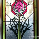 Stained Glass Window Thistle Pattern