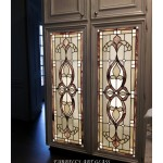 Stained glass cabinet doors by Farrell's Art Glass