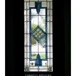 Stained glass window by Farrell's Art Glass with wavy glass