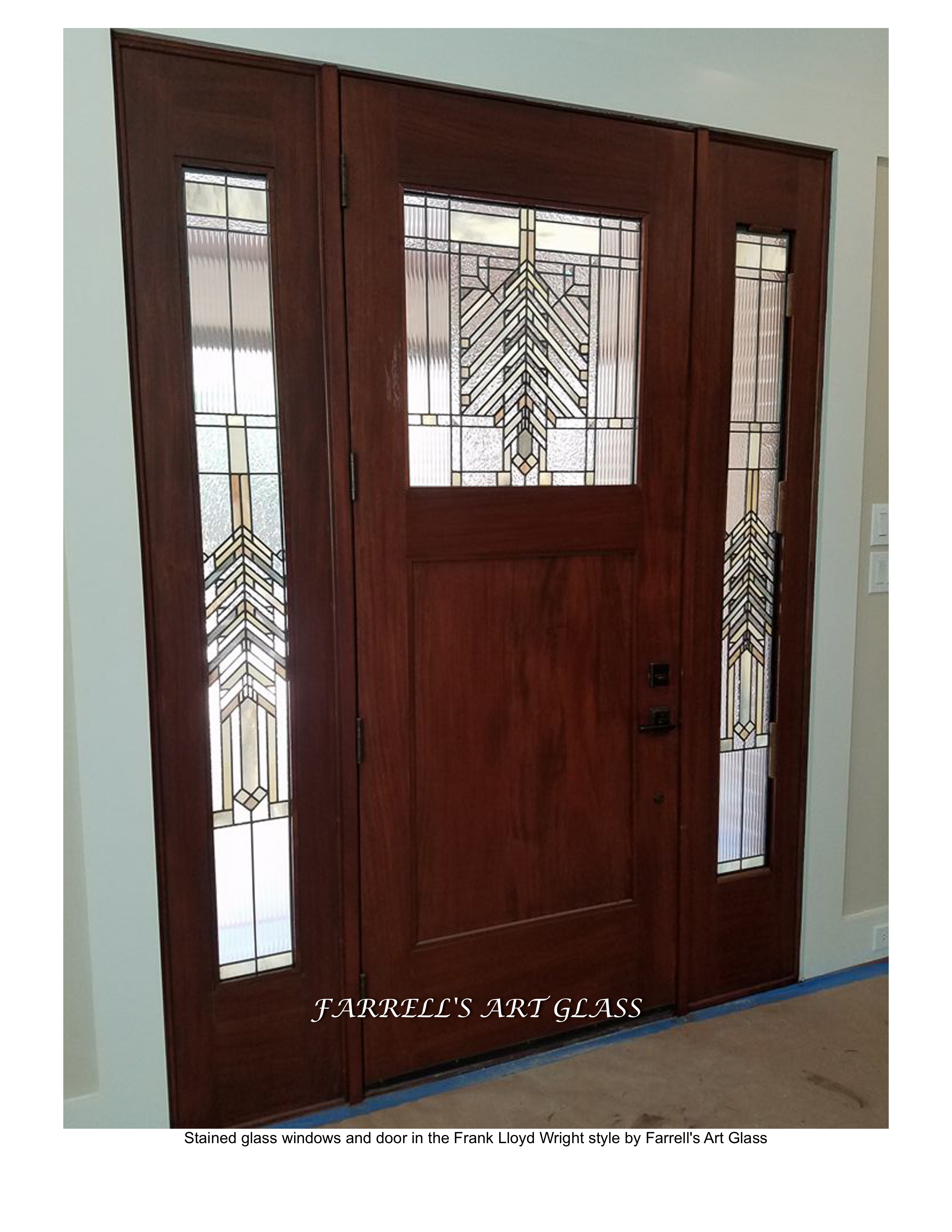 Charmant Stained Glass Windows And Door In The Frank Lloyd Wright Style By Farrellu0027s  Art Glass