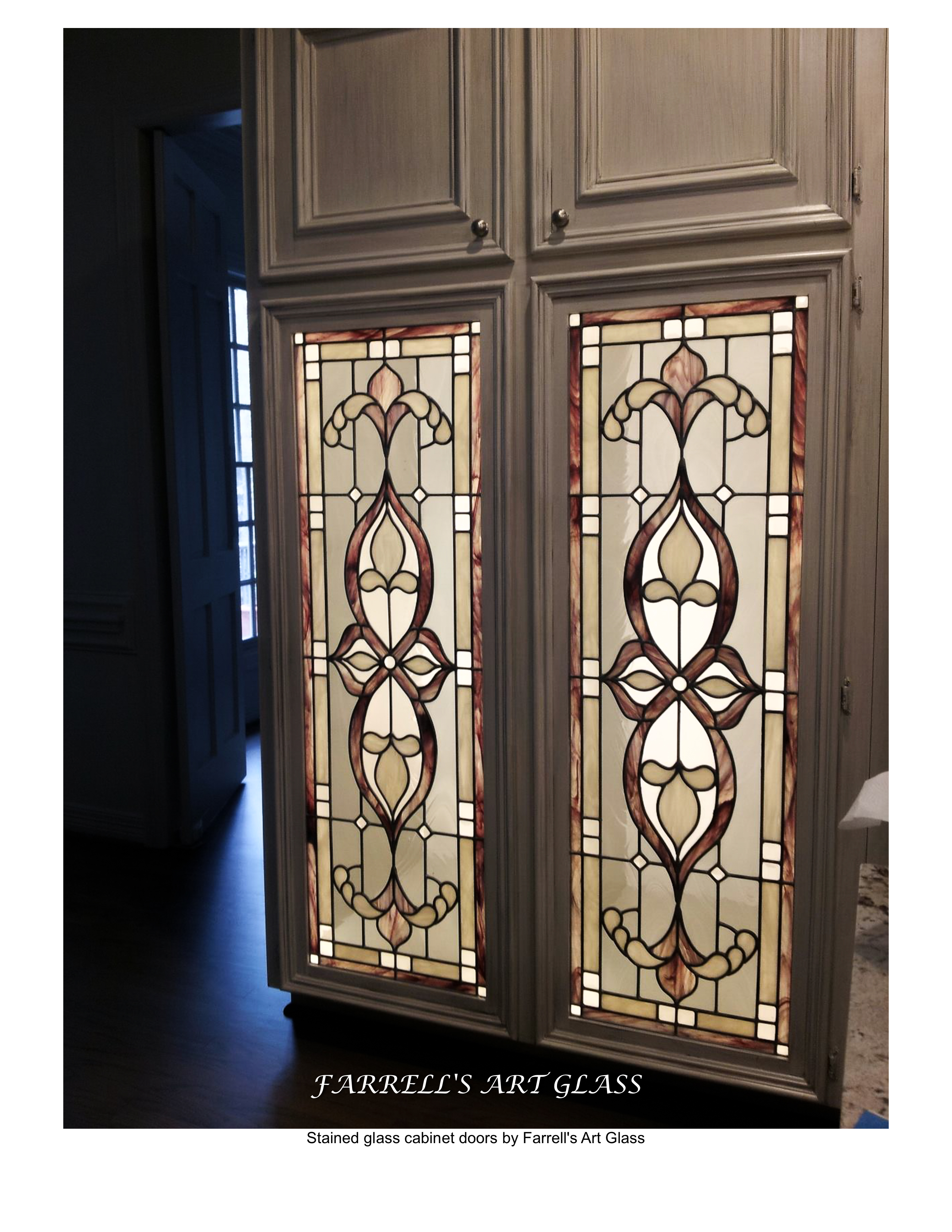 Excellent Stained Glass Cabinet Doors Collection